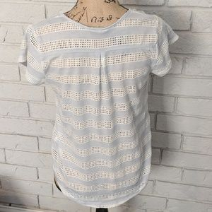 Sheer high low tee